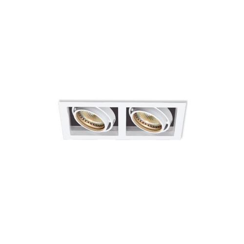 CLE Kardan LED / Halogen Einbauleuchte YK2-NV max. 2x 50W 12V Weiß