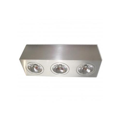 CLE ALUTEC LED ALU Aufbauleuchte LED 1003 3x 1W 230V