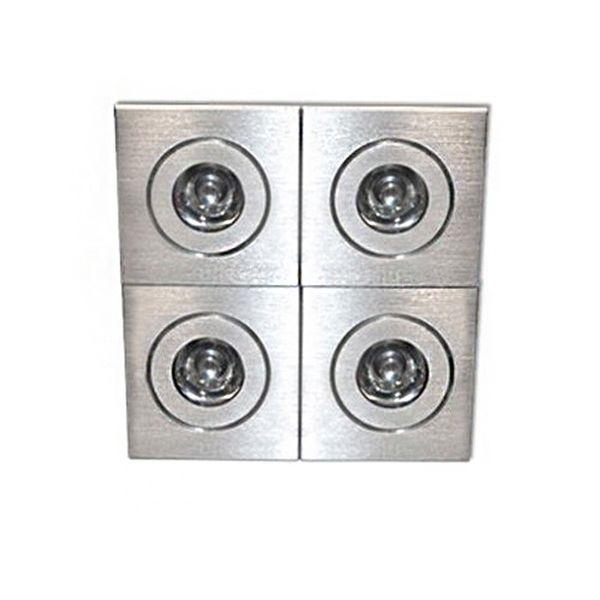CLE LED Einbauleuchte D-LED 06D ALUTEC 4x 1W