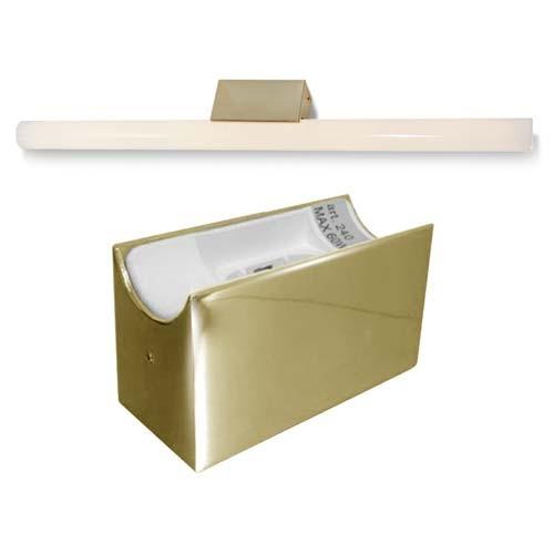 ALUTEC Spiegelleuchte für Linestra Linienlampe - LED - max. 35/60W - Messing