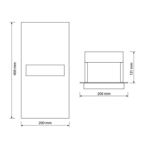 Gaga Lamp Design Wandleuchte RIO-Maxi 100W 230V alu grau Bild 4
