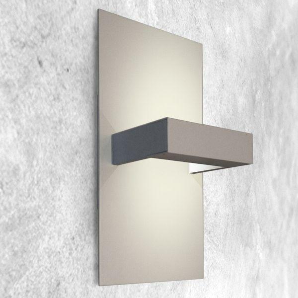 Gaga Lamp Design Wandleuchte RIO-Maxi 100W 230V alu grau