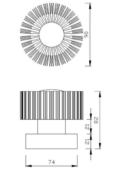 Gaga Lamp Design ALUTEC Wandleuchte King Cross small 25W 230V alu grau Glas rot Bild 4