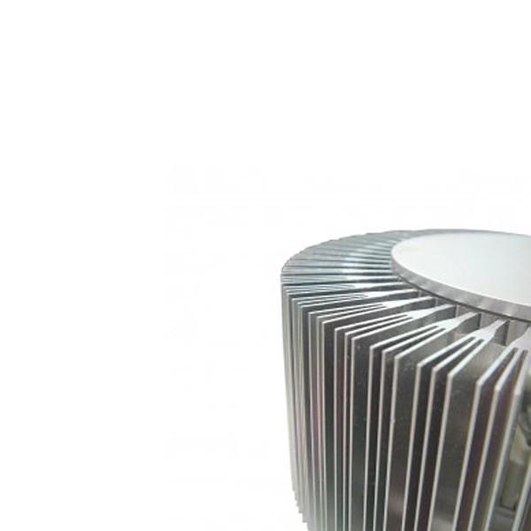 Gaga Lamp Design ALUTEC Wandleuchte King Cross small 25W 230V alu grau Glas rot Bild 6