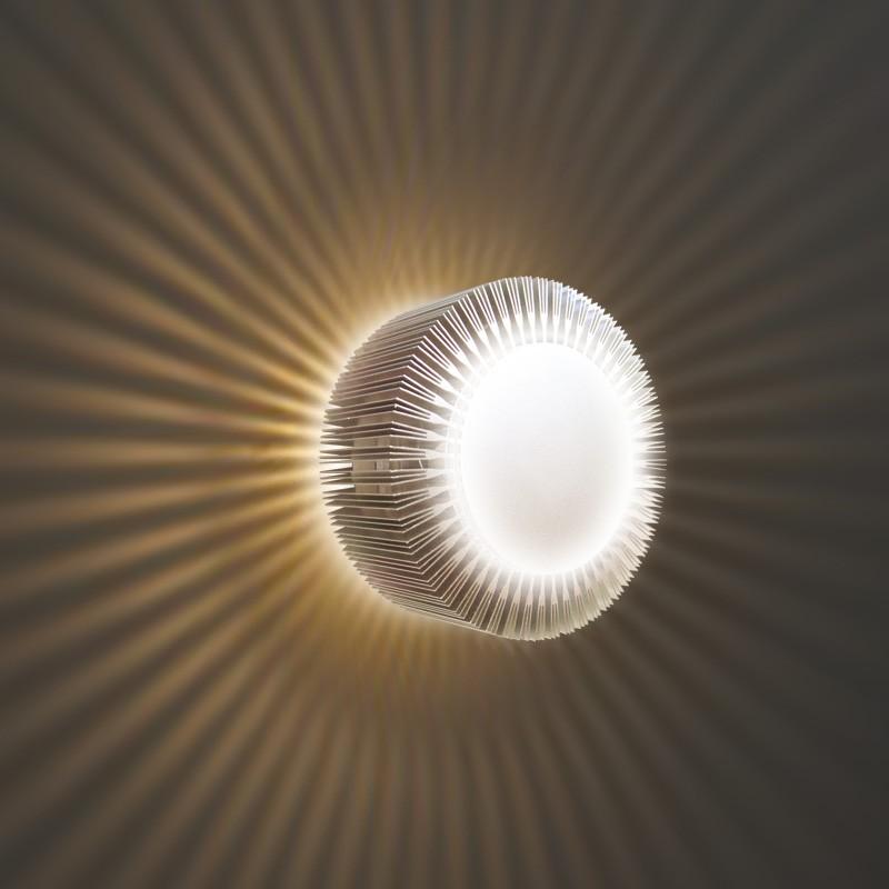 Gaga Lamp Design ALUTEC Wandleuchte King Cross Big 40W 230V alu grau