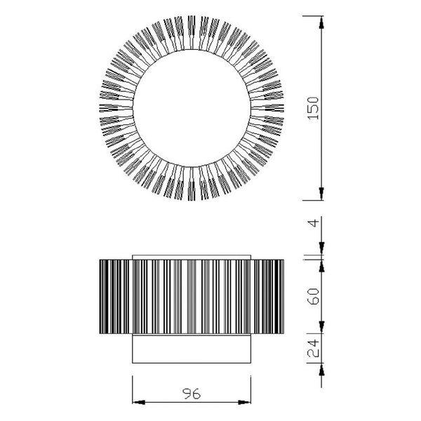 Gaga Lamp Design ALUTEC Wandleuchte King Cross Big 40W 230V alu grau Bild 4