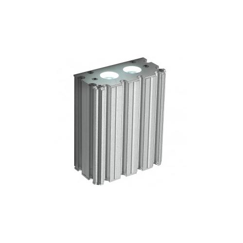 CLE ALUTEC LED Wandleuchte 2x 1W 230V silber grau
