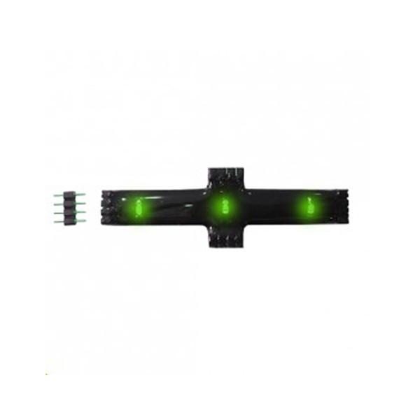 CLE LED Lichtleiste Stripe flexibel 12V Kreuzverbinder grün