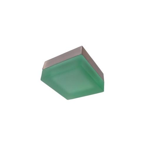 CLE Halogen Halbeinbauleuchte Eckig 20W 12V grün/nickelmatt