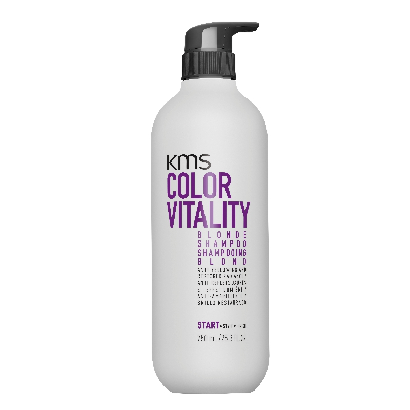 KMS Colorvitality Blonde Shampoo 750 ml incl. Pumpe