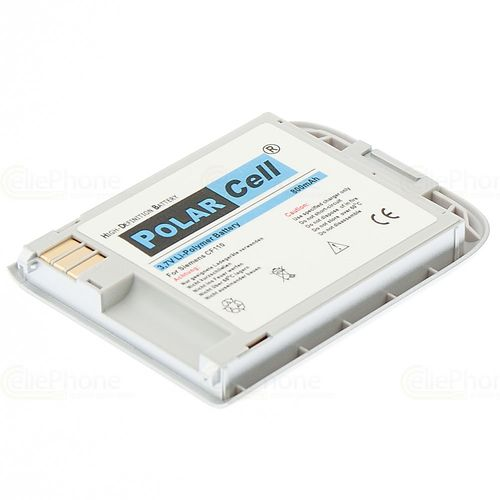 cellePhone PolarCell Akku Li-Polymer kompatibel mit BenQ-Siemens CF110 - silber (Ersatz für EBA-180 / EBA-190)