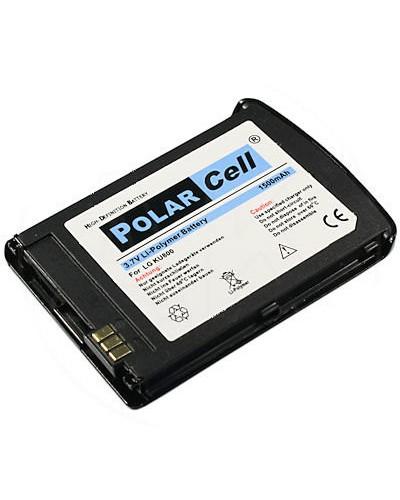 cellePhone PolarCell Akku Li-Polymer kompatibel mit LG KU800 Chocolate UMTS - schwarz (Ersatz für LGLP-GBAM)