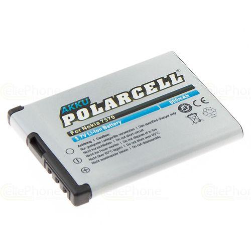 cellePhone PolarCell Akku Li-Ion kompatibel mit Nokia 1606 2505 2630 2660 5000 6111 6125 7070 7360 7500 N76 (Ersatz für BL-4B)
