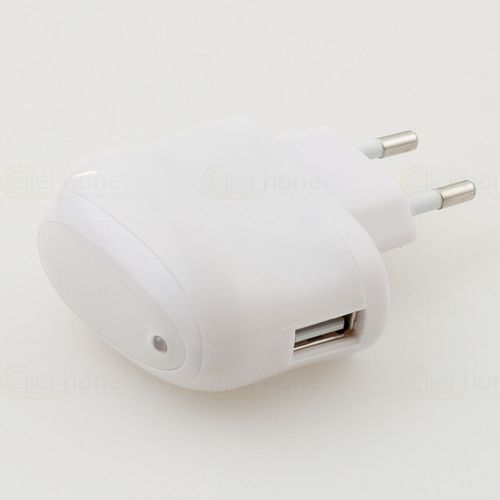 cellePhone Mains charger for USB 2,1A Apple iPhone / iPod / iPad - white