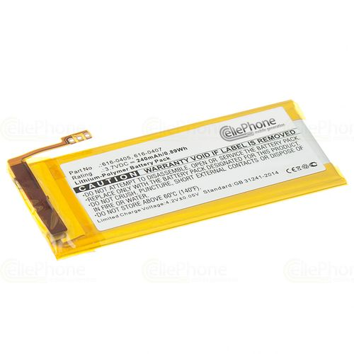 cellePhone Akku Li-Polymer kompatibel mit Apple iPod Nano 4 (4. Generation) (Ersatz für  616-0405 / 616-0407)