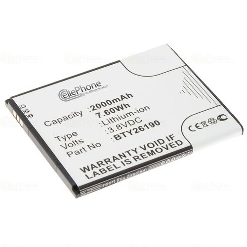 cellePhone Battery Li-Ion for Elson Mobistel Cynus T8 / F6 (replaced BTY26190)