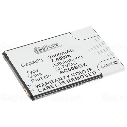 cellePhone Battery Li-Ion for Archos 50 Neon Platinium - 50b Oxygen Sauerstoff (replaced AC50BOX)