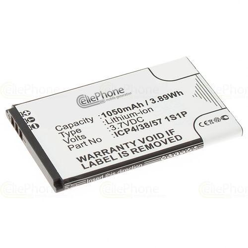 cellePhone Akku Li-Ion kompatibel mit Bea-Fon Classic Line C30 (Ersatz für ICP4/38/57 1S1P)