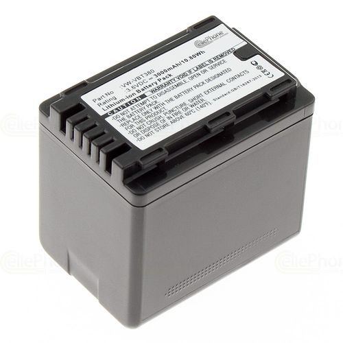 cellePhone Battery Li-Ion compatible with Panasonic VW-VBT380 - 3000 mAh