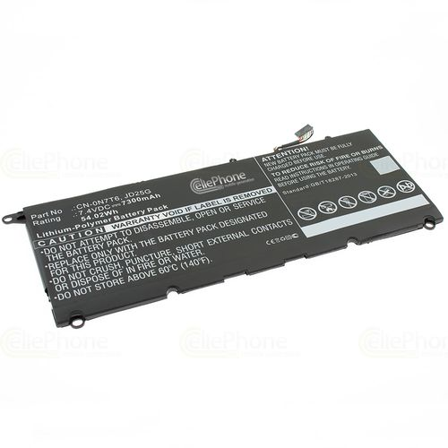 cellePhone Battery Li-Polymer compatible with Dell XPS 13 2015 9343 - 7300 mAh