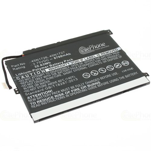 cellePhone Battery Li-Polymer for Lenovo ThinkPad 10 (replaced 45N1726)