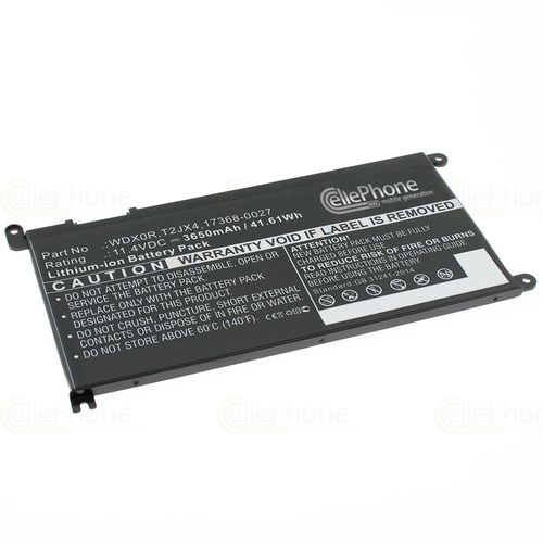 cellePhone Battery Li-Ion compatible with Dell Inspiron 13 7368 - 3650 mAh