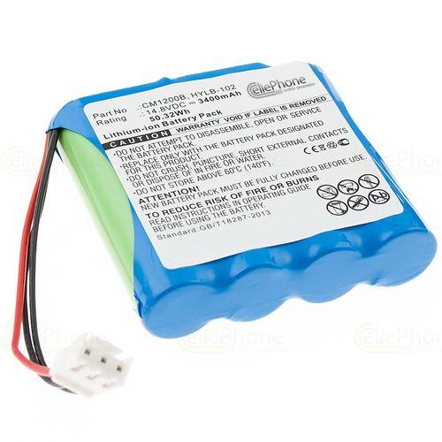 cellePhone Akku Li-Ion kompatibel mit Edan SE-1 (Ersatz für HYLB-102) - 3400 mAh