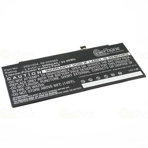cellePhone Battery Li-Polymer for Amazon Kindle Fire HDX 8.9 (replaced 26S1004) - 6000 mAh