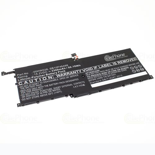 cellePhone Battery Li-Polymer compatible with Lenovo ThinkPad X1 Carbon - 3300 mAh