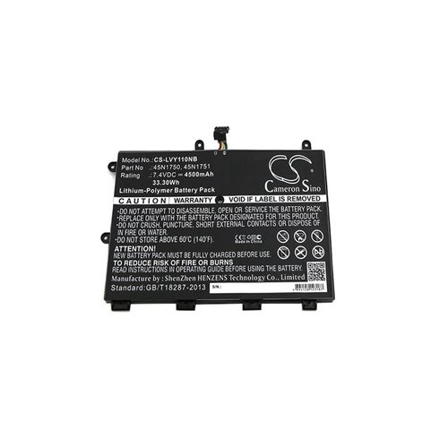 cellePhone Battery Li-Polymer compatible with Lenovo ThinkPad Yoga 11e - 4500 mAh