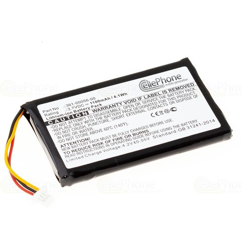 cellePhone Battery Li-Ion for Garmin Nüvi 30 50 50LM 55LM 55LMT - Drive 51 LMT-S - DriveSmart 50 61 LMT-D (replaced 361-00056-00)