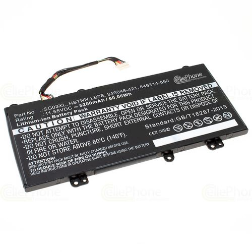 cellePhone Battery Li-Ion compatible with HP Envy M7U - 5200 mAh