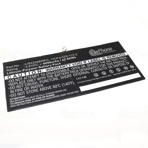 cellePhone Akku Li-Polymer kompatibel mit Sony Xperia Tablet Z2 (Ersatz für LIS2206ERPC) - 6000 mAh