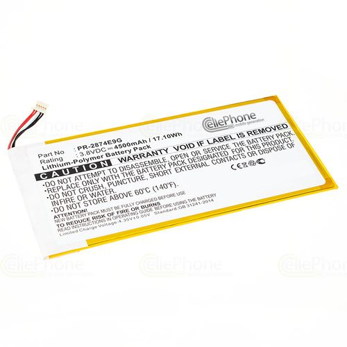 cellePhone Battery Li-Polymer for Acer Iconia One 8 B1-850 (replaced PR-2874E9G) - 4500 mAh