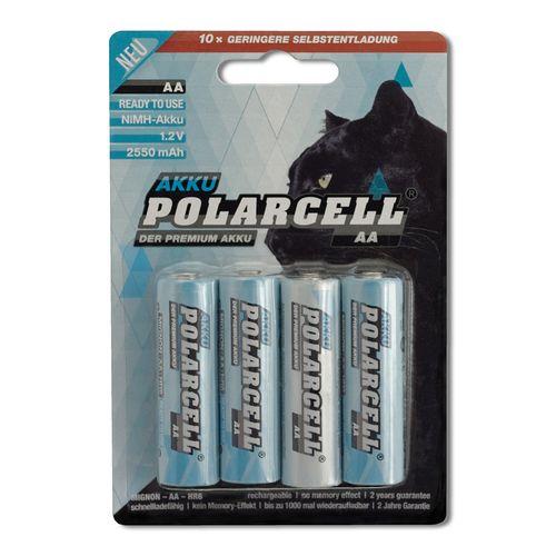cellePhone PolarCell Akku Ni-MH Mignon AA - HR6 KR6 LR6 R6 L6 - 2550mAh - 4er Blister