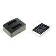 cellePhone Akku-Ladestation Dual + Li-Ion Akku (800mAh) für Olympus LI-80B