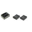 cellePhone Akku-Ladestation Dual + 2x Li-Ion Akku (900mAh) für Rollei DS-SD20