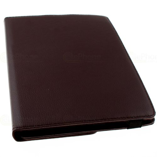 cellePhone Universal Rotation Bookstyle Case + Clamp for Tablet - Notebook up to 10 inch - Brown