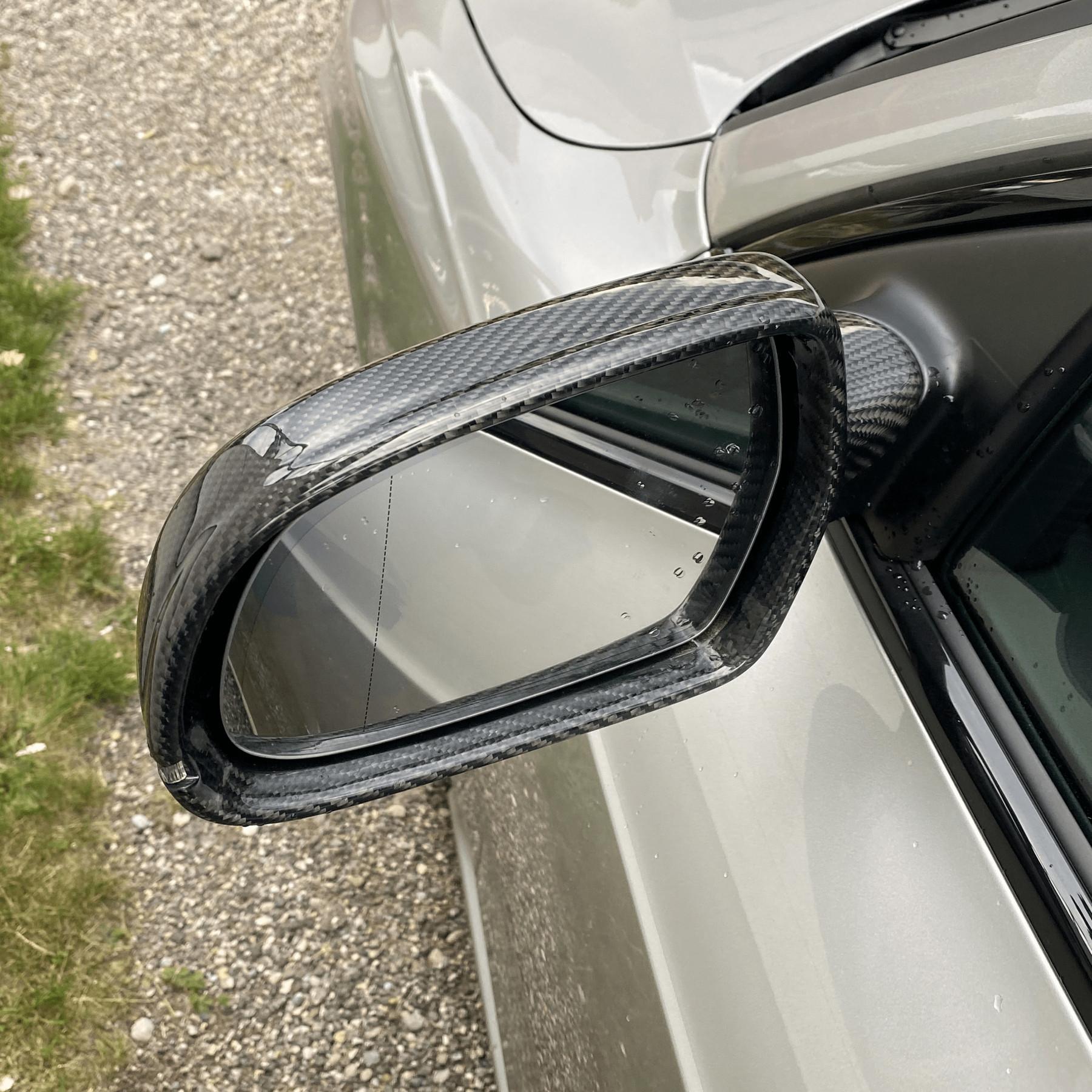 NEU Alu Optik Look Spiegelkappen für Audi A5 S5 RS5 8T 2007–10 AUCH SIDE ASSIST!