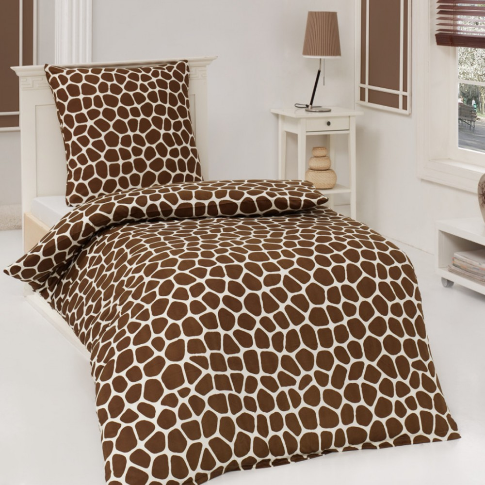 2tlg microfaser bettw sche african dream giraffe 135x200. Black Bedroom Furniture Sets. Home Design Ideas