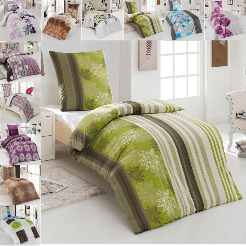 sehr hochwertige baumwolle renforce bettw sche modelle 155x220 kissenbezug 80x80 ebay. Black Bedroom Furniture Sets. Home Design Ideas