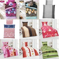 2-tlg Hochwertige Baumwolle Renforce Bettwäsche 135x200 Kissenbezug 80x80 Bett – Bild 1