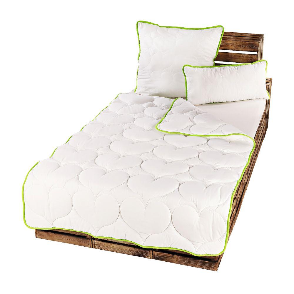 2er pack greenfirst microfaser steppdecke bettdecke decke steppbett kopfkissen ebay. Black Bedroom Furniture Sets. Home Design Ideas