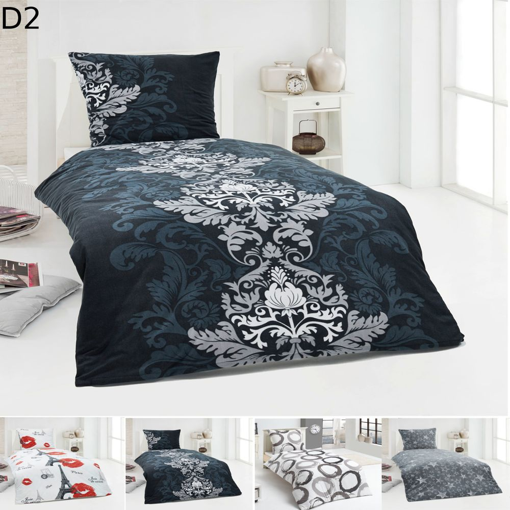 warme winter microfaser flausch fleece bettw sche 135x200. Black Bedroom Furniture Sets. Home Design Ideas
