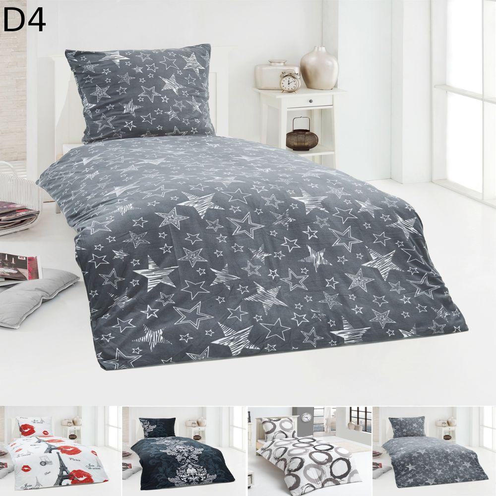 warme winter microfaser flausch fleece bettw sche 135x200. Black Bedroom Furniture Sets. Home Design Ideas