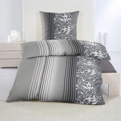 dicht gewebte Baumwolle Feinbiber Winter Bettwäsche 135x200 + 80x80 Kissenbezug Warm Biber – Bild 4