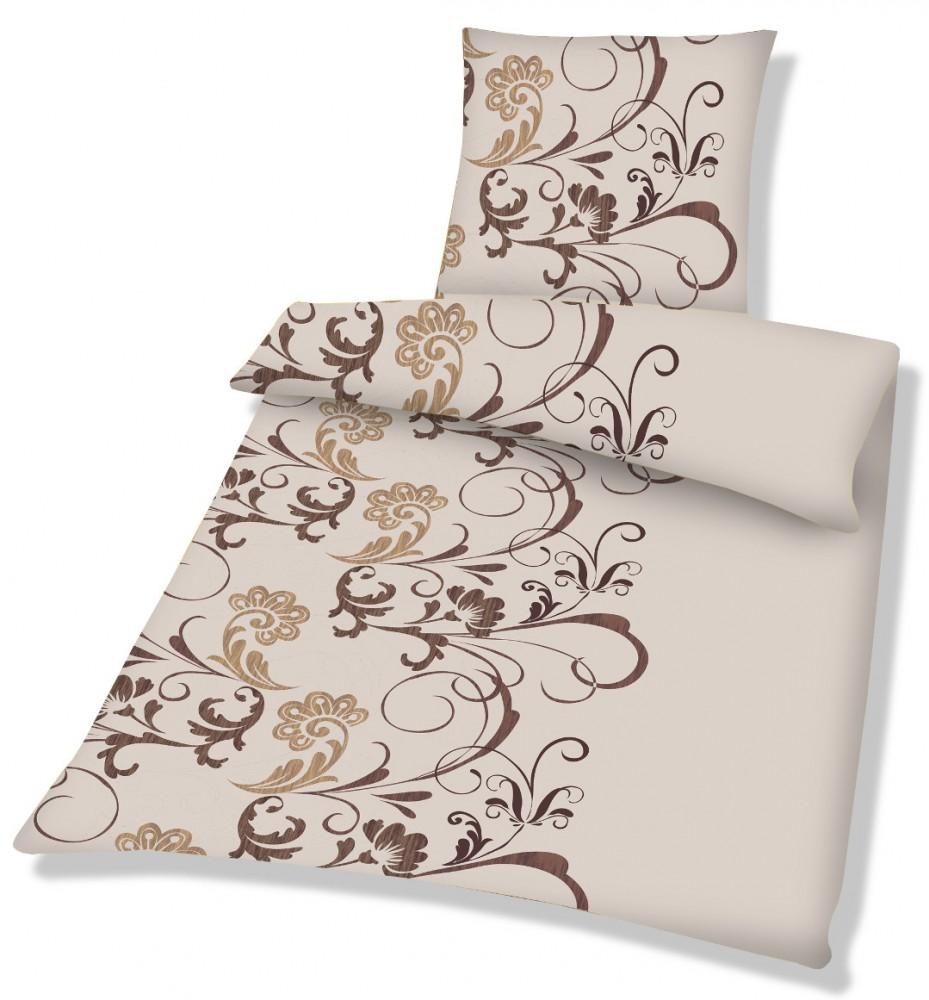 2 teilige microfaser fleece winter bettw sche 135x200 80x80 barock ebay. Black Bedroom Furniture Sets. Home Design Ideas