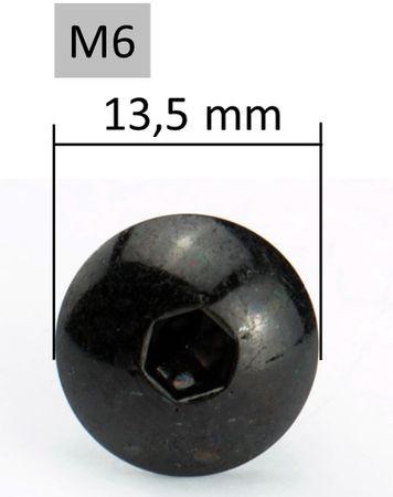 6mm Set mit Schrauben, Unterlegscheiben und Clipsen - M6x25mm – Bild 3