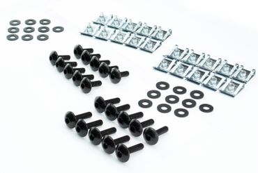 M5x16mm Motorrad, Auto und Roller Verkleidungsschrauben + Klemmen – Bild 1
