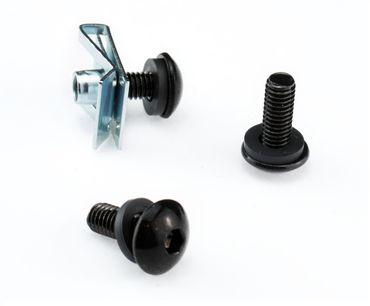 Werkstatt Set M6 für Verkleidung mit Schrauben schwarz, Unterlegscheiben aus Gummi und Clipse – Bild 2